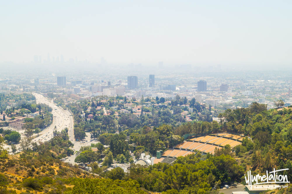 Los Angeles skyline, view from Hollywood Hills. 2014.
