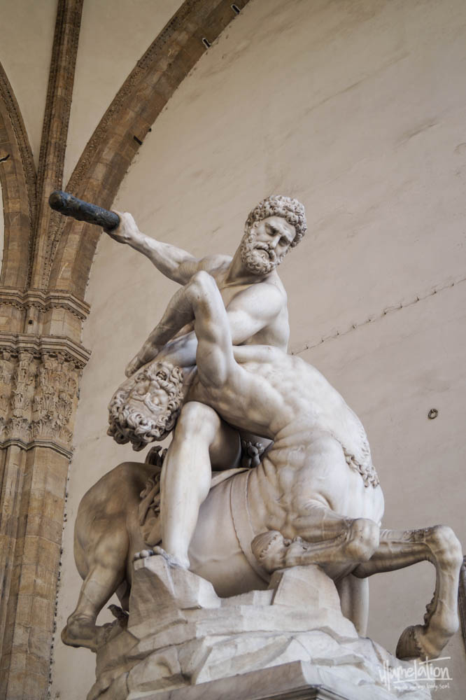 Hercules and the Centaur, Florence, Giambologna c.1599, Italy. Loggia.