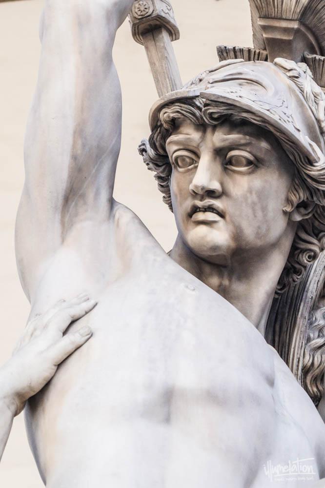 THE RAPE OF POLYXENA. Loggia della Signoria. Pio Fedi in 1865. Florence, Italy.