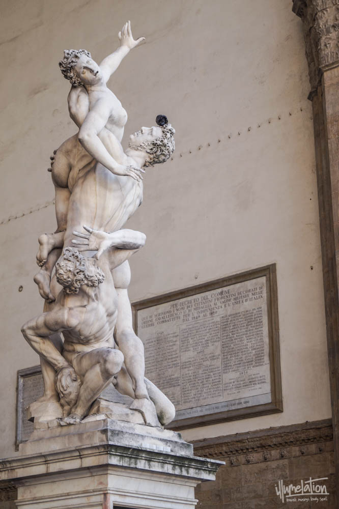 "Giambologna's ""Rape of the Sabine Women"" (c.1583). Florence Italy."