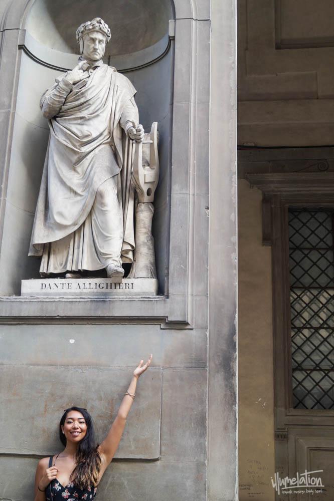 Dante Alighieri, Uffizi Gallery, Florence, Italy (Mel illumelation.com).
