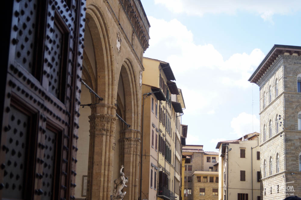 Florence, Italy. Piazza Signoria. Uffizi Gallery. Buildings, architecture.