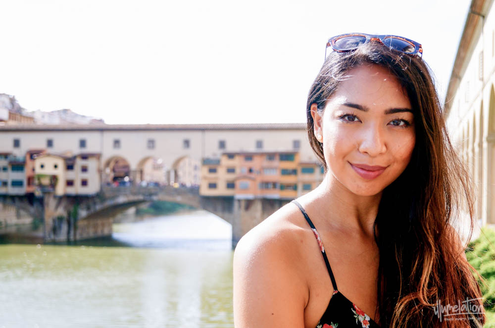 Mel (illumelation.com) at Ponte Vecchio Bridge, Florence, Italy. 2015.