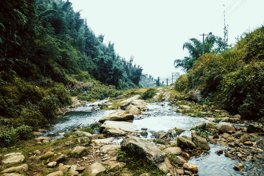 Sapa, Vietnam. Rocky stream.   illumelation.com