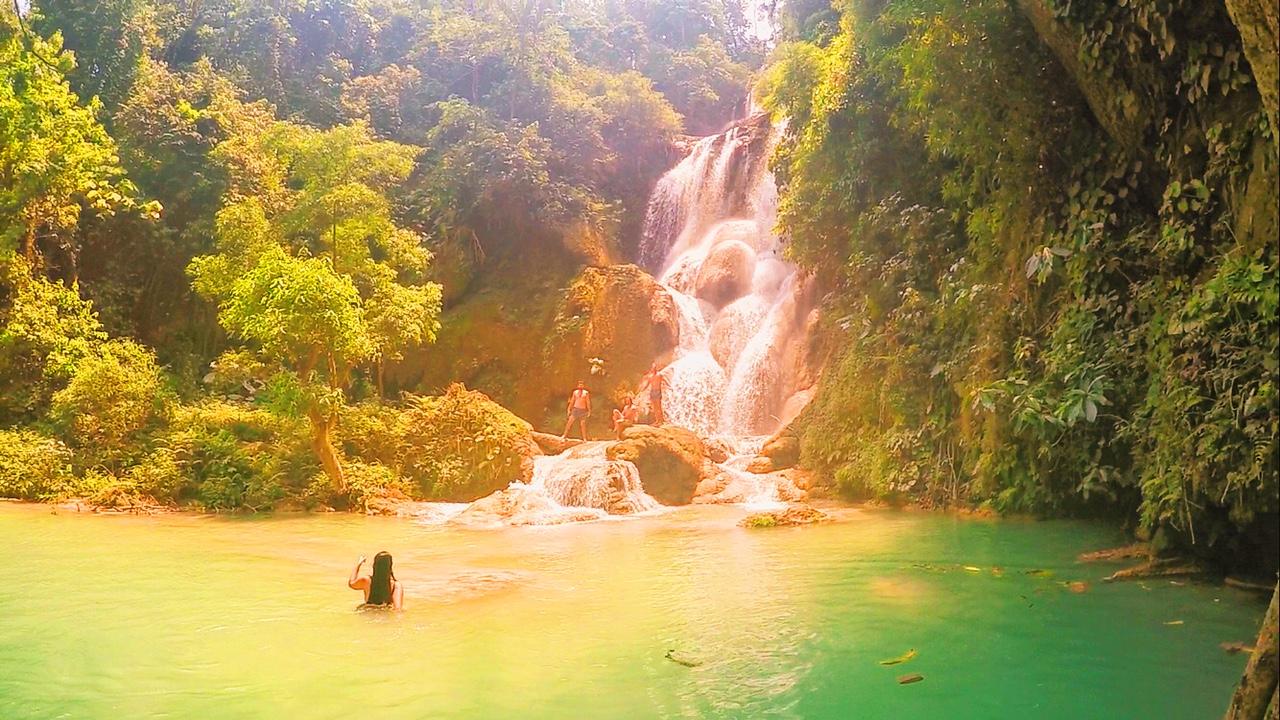 "Kuang-Si Waterfalls ""Secret Spot"" in Laos, Luang Prabang - illumelation.com"