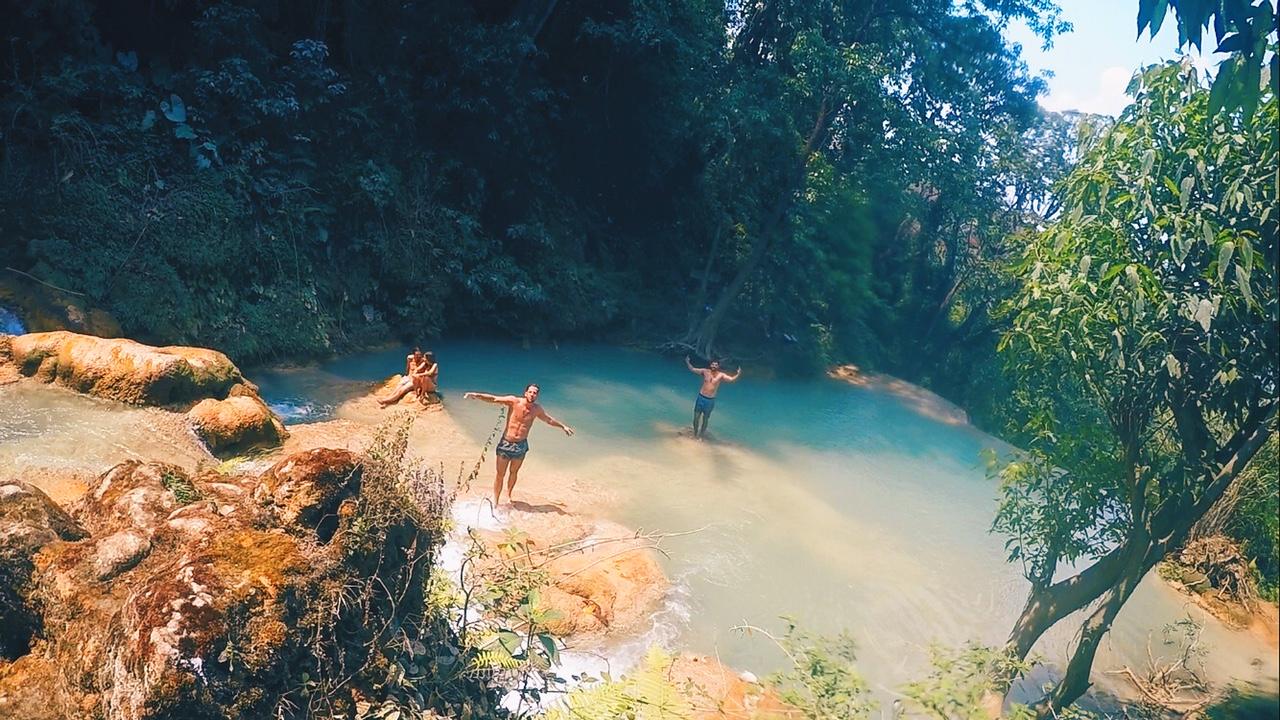 """Secret Spot"" Lagoon, Kuang-Si Waterfalls in Laos, Luang Prabang - illumelation.com"