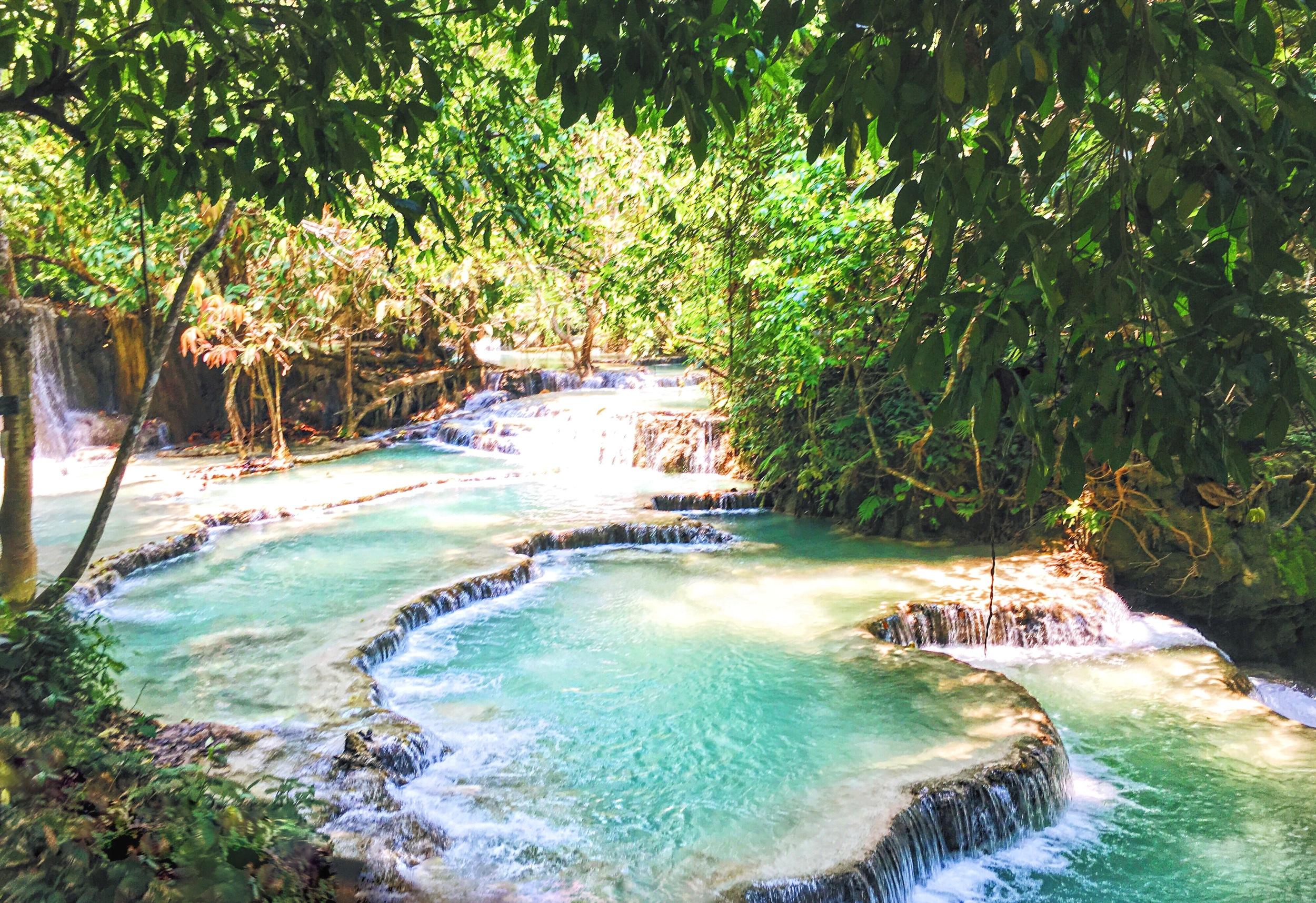 Kuang Si Falls in Luang Prabang, Laos - illumelation