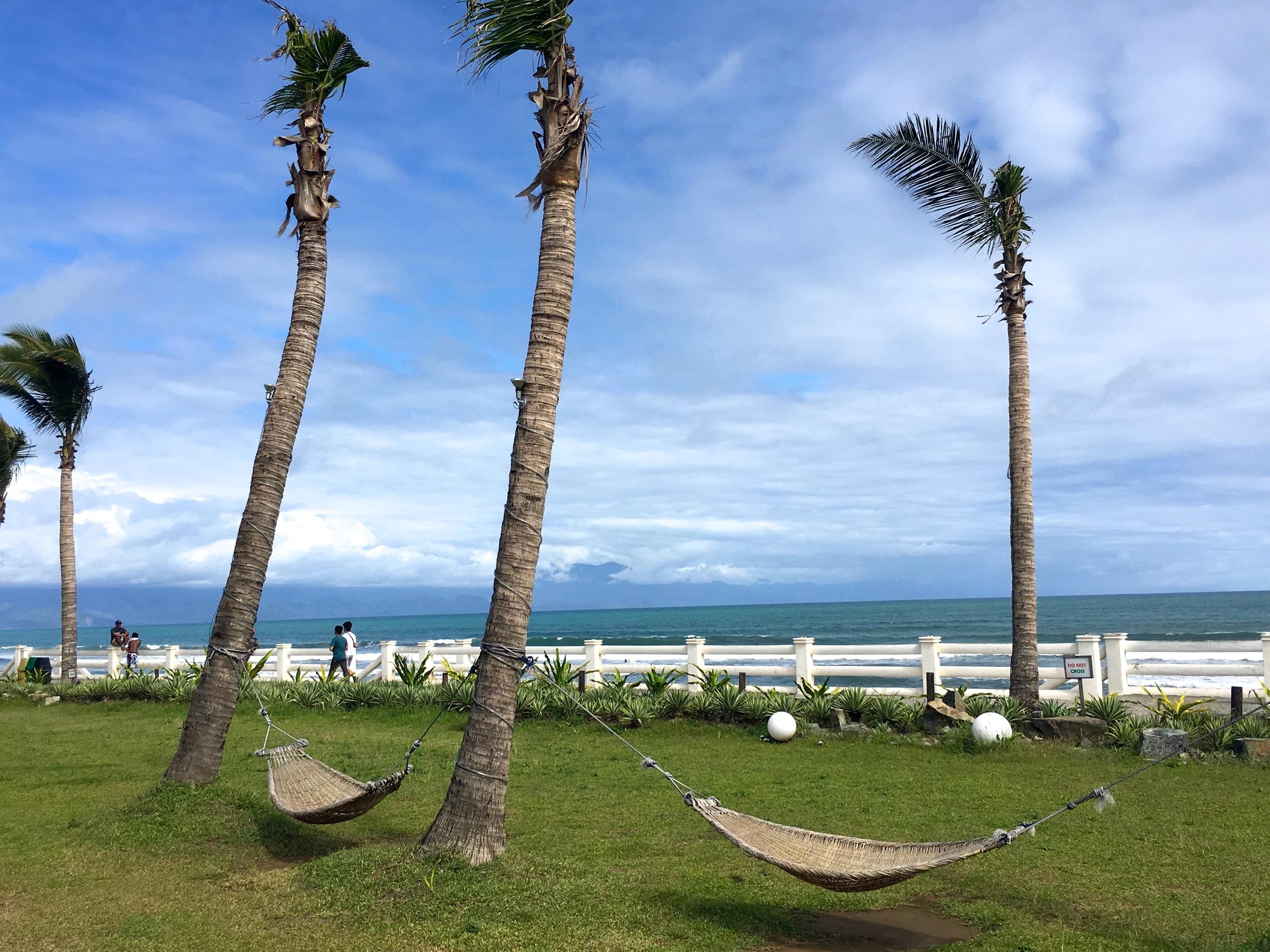 Beachfront gardens at Costa Pacifica. Dreamy!