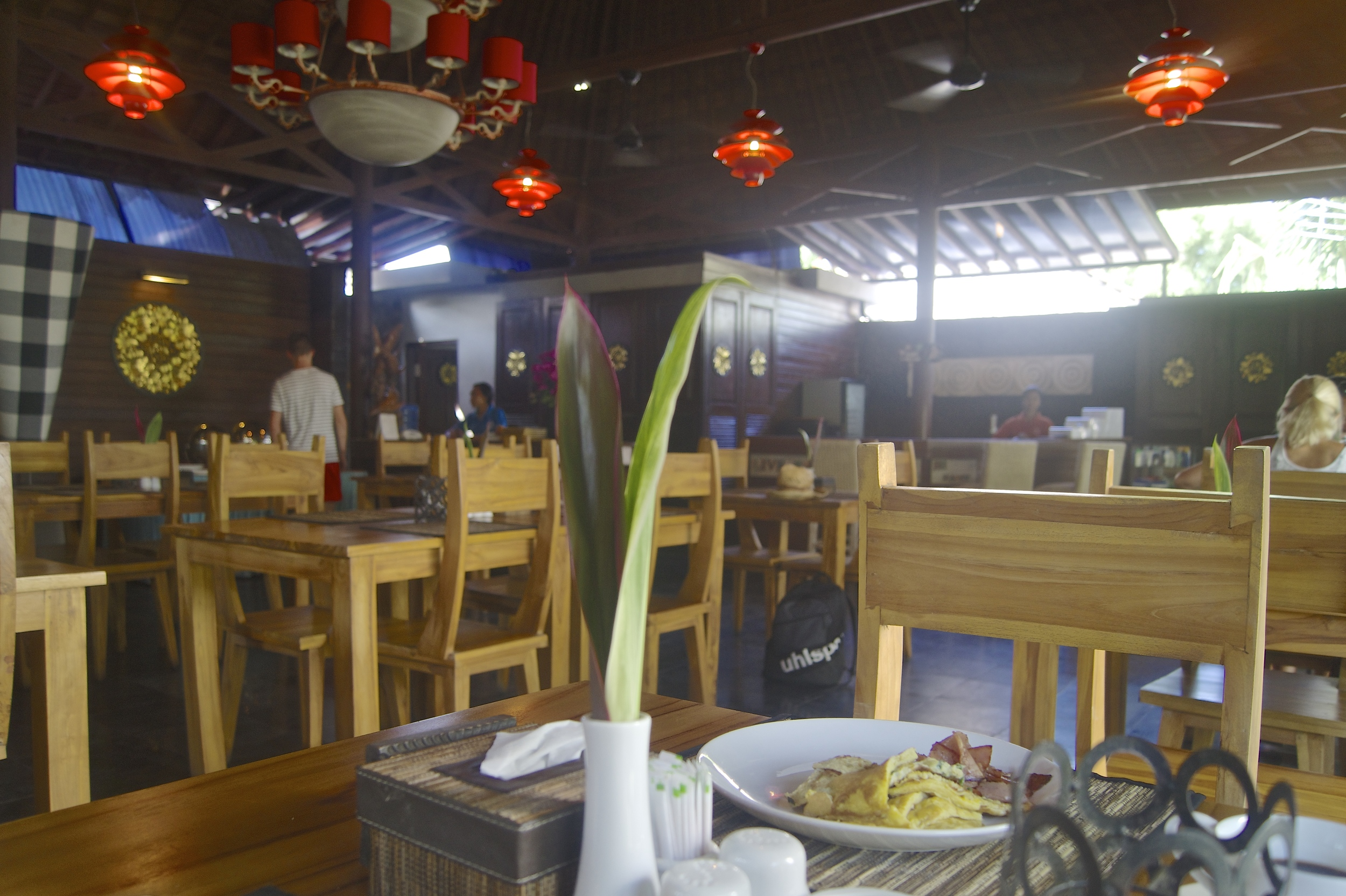 Ubud Raya Hotel Review - Dining Room Restaurant - Bali