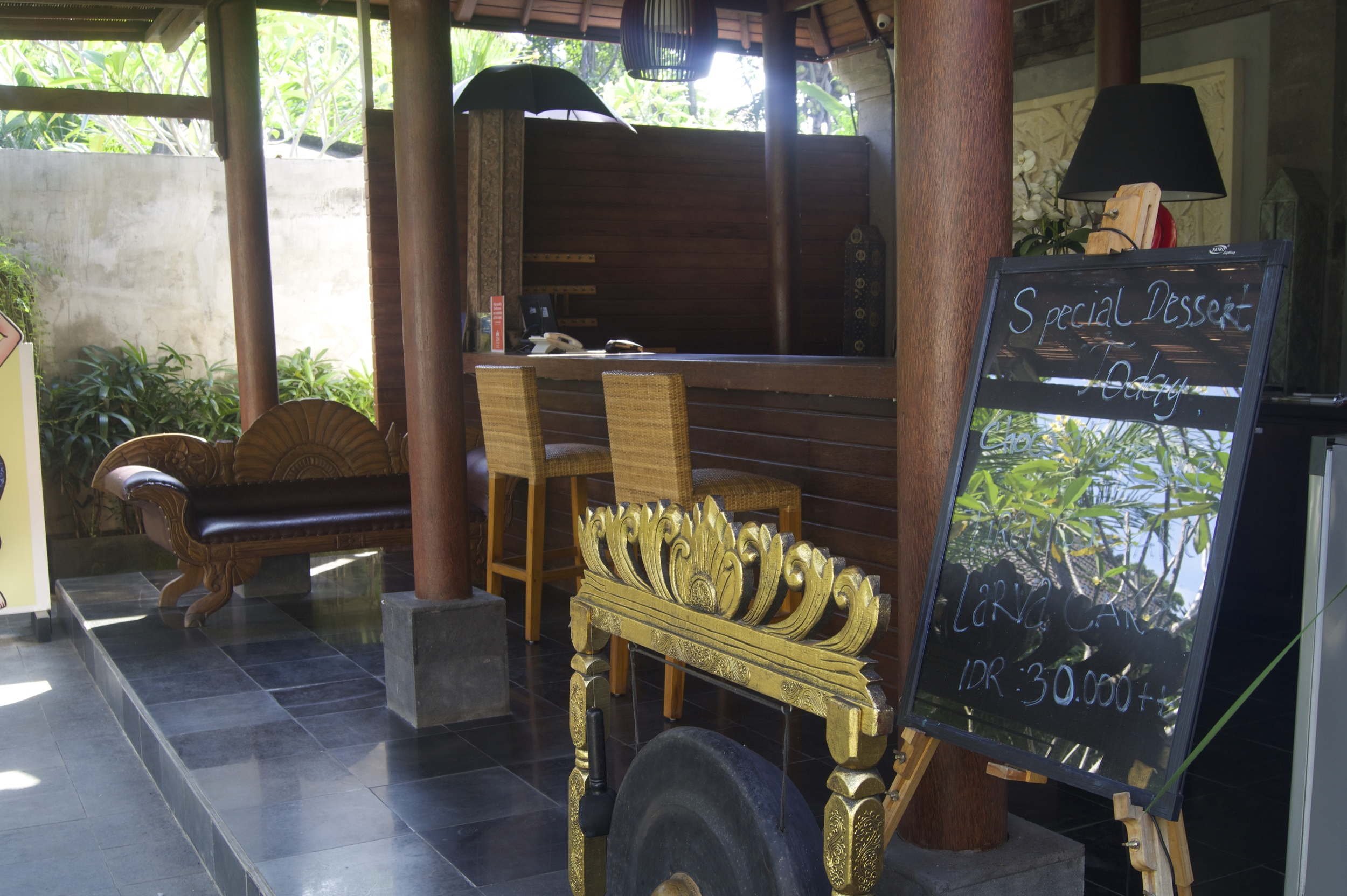 Ubud Raya Hotel Review - Reception Area - Bali