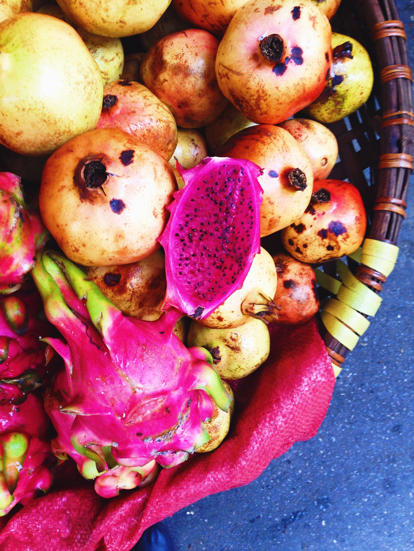 Street Vendor Dragonfruit in Hanoi, Vietnam - illumelation.com