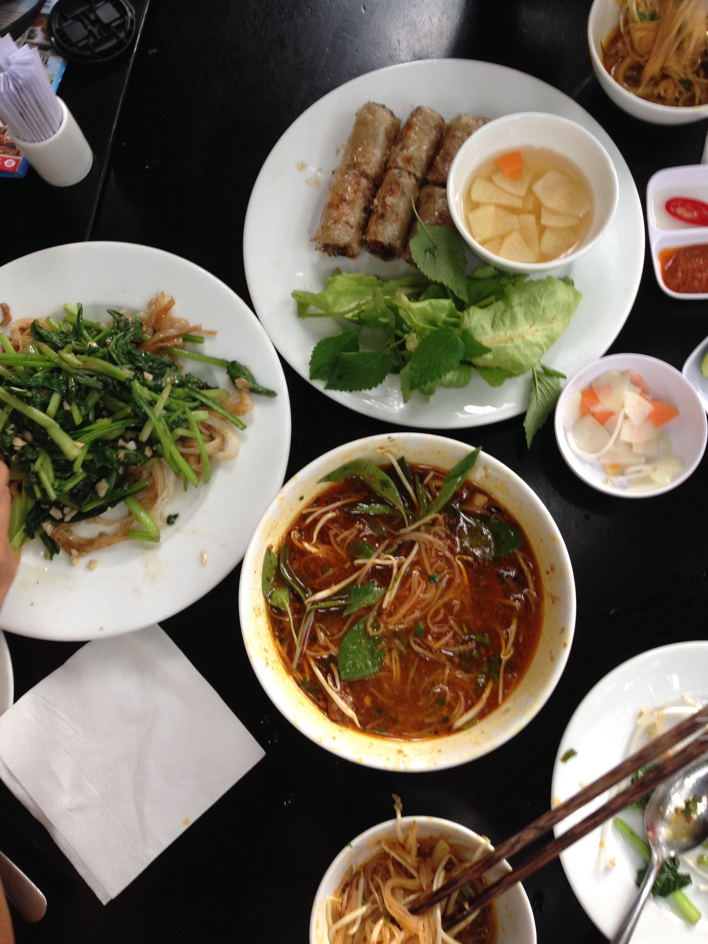 Delicious Vietnamese meal - flatlay - illumelation.com