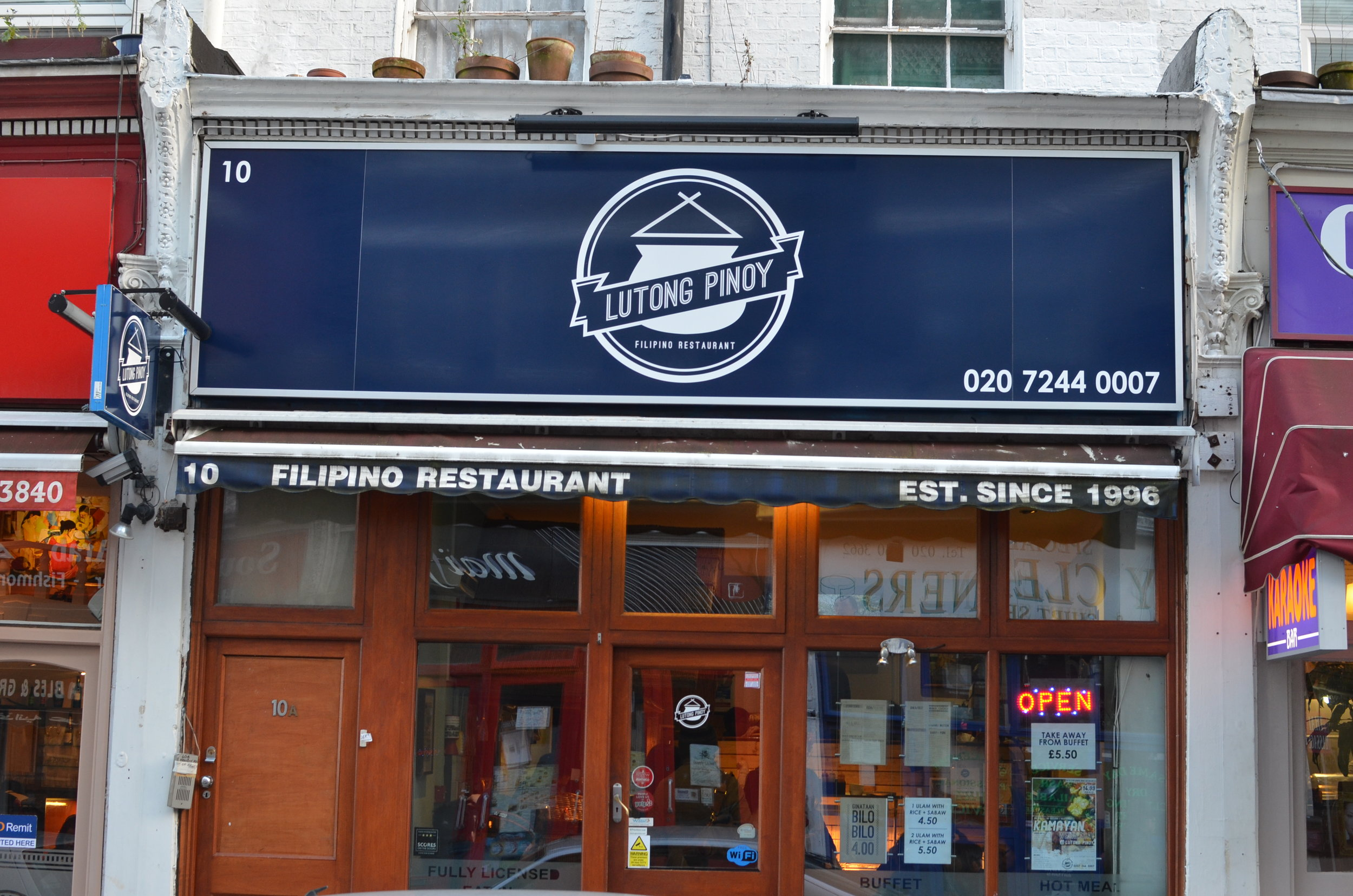 Lutong Pinoy Filipino Restaurant, Earl's Court, London - Credit to Travelin' 20-something