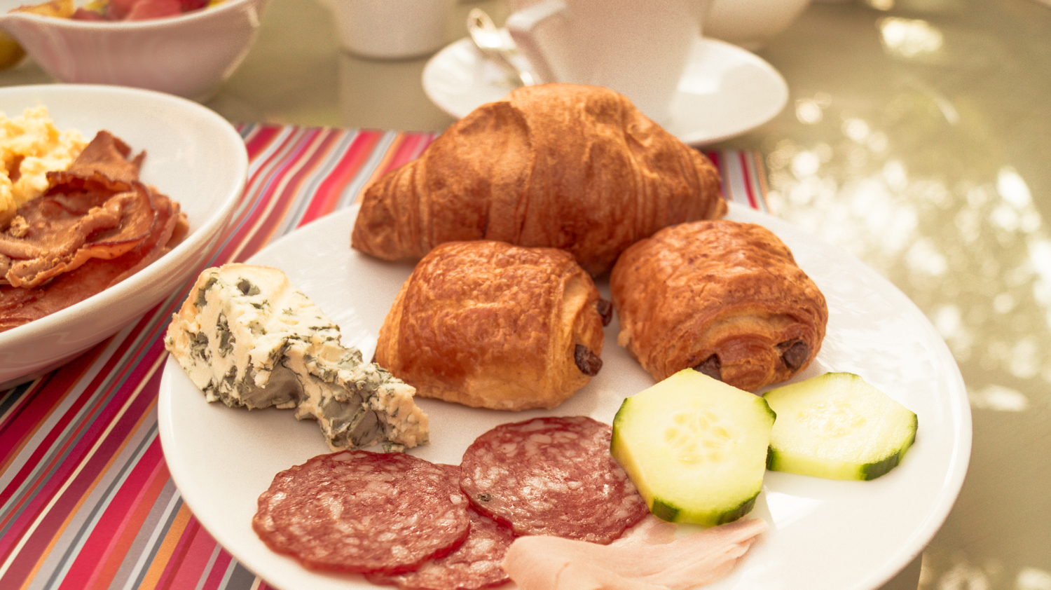 A small selection of breakfast offerings at the Hotel La Perouse buffet