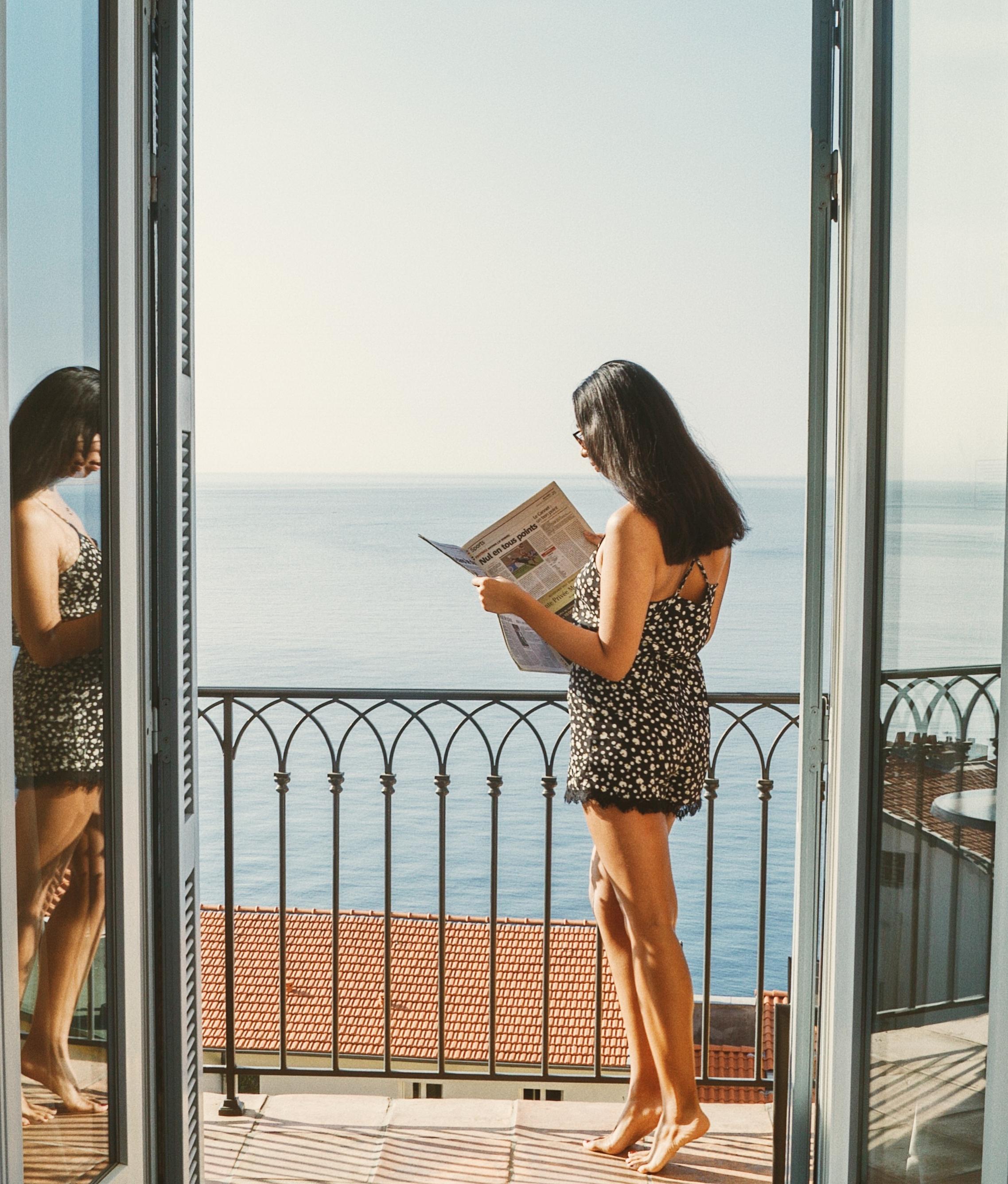 早上看,早上新闻在Hotel La Perouse  - 尼斯,法国