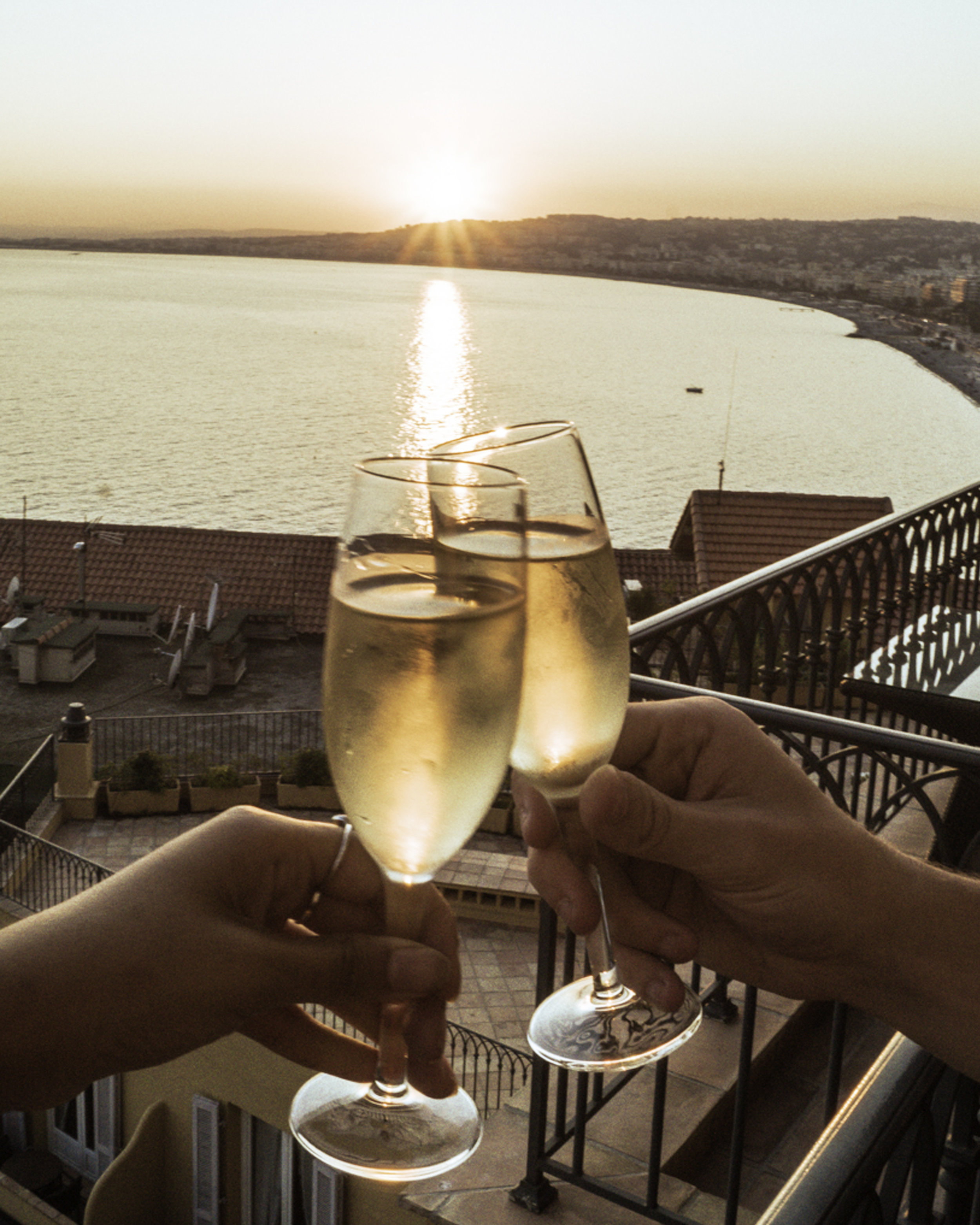Cheers to Wine on the Balcony - Hotel La Perouse - Superior Full Sea View - Nice, France - illumelation.jpg