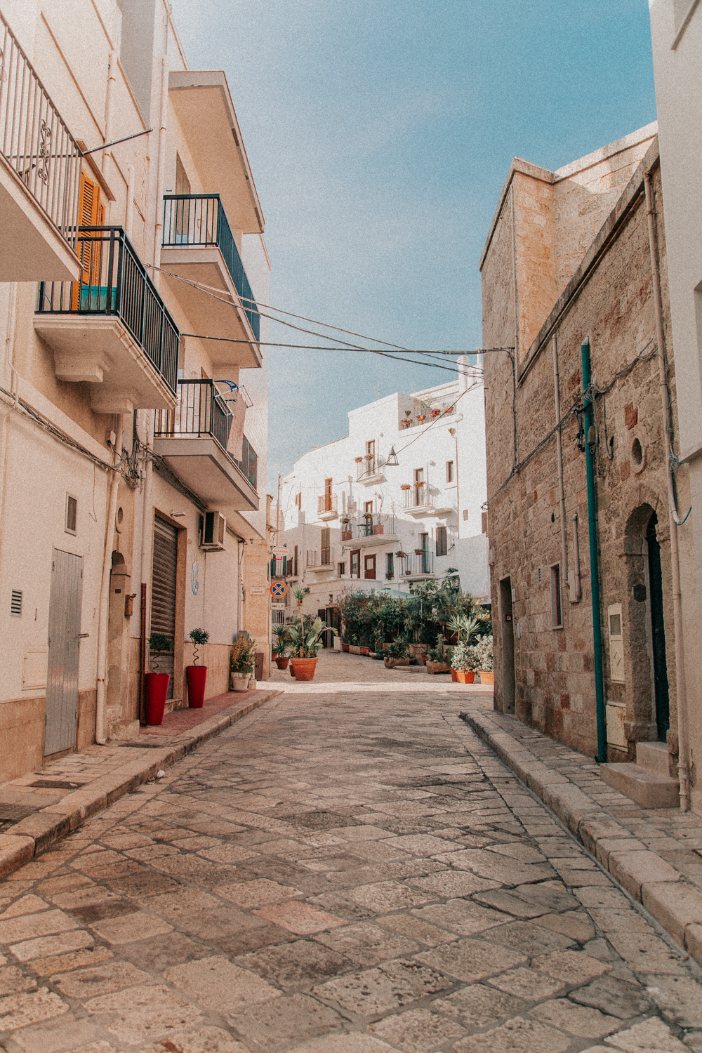 Beautiful cobbled streets of Polignano