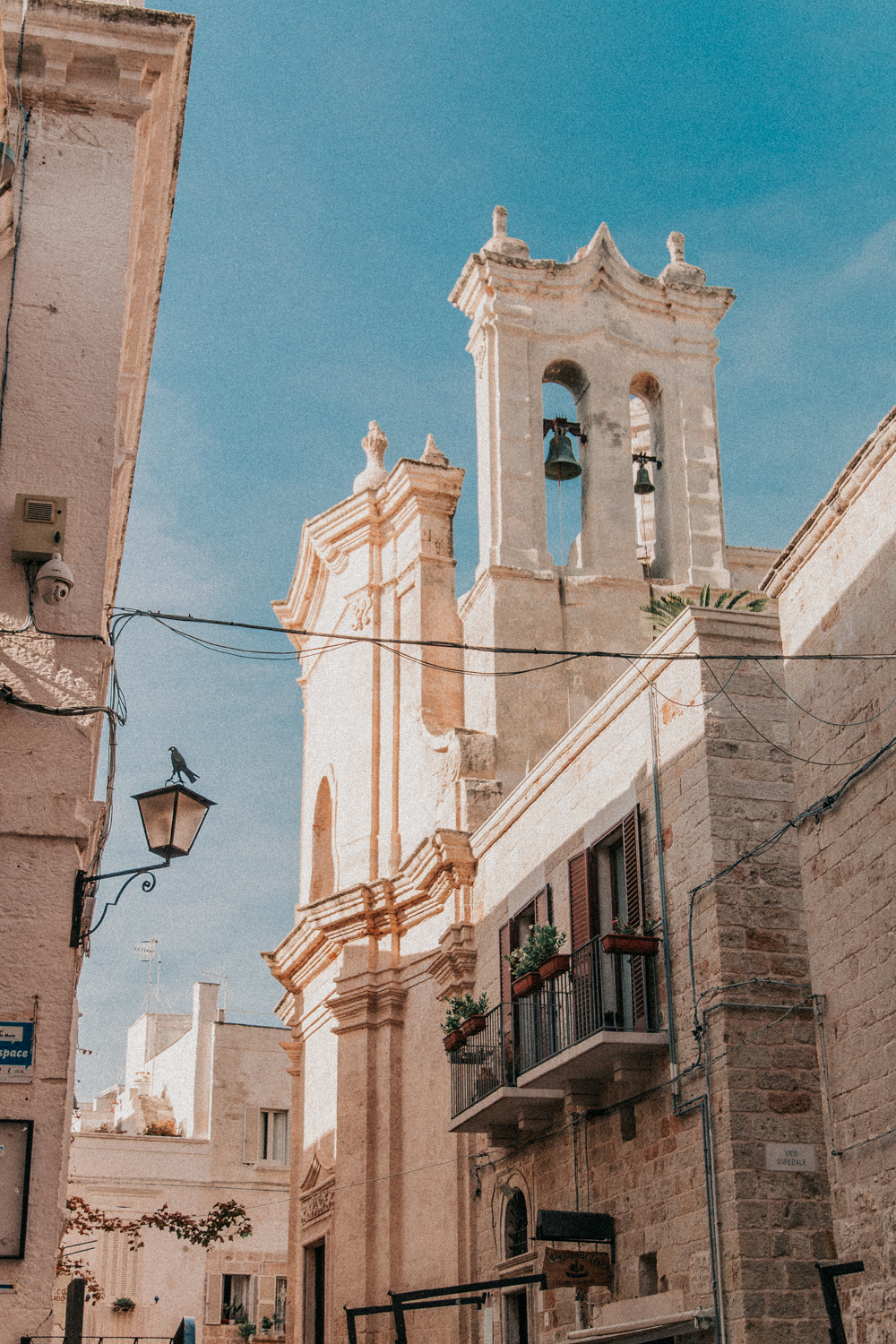 Ringing church bells in Polignano