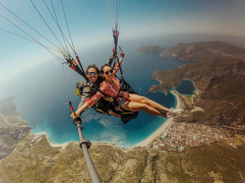 梅尔在土耳其达拉曼的Oludeniz Blue Lagoon滑翔伞(92个中的17个)