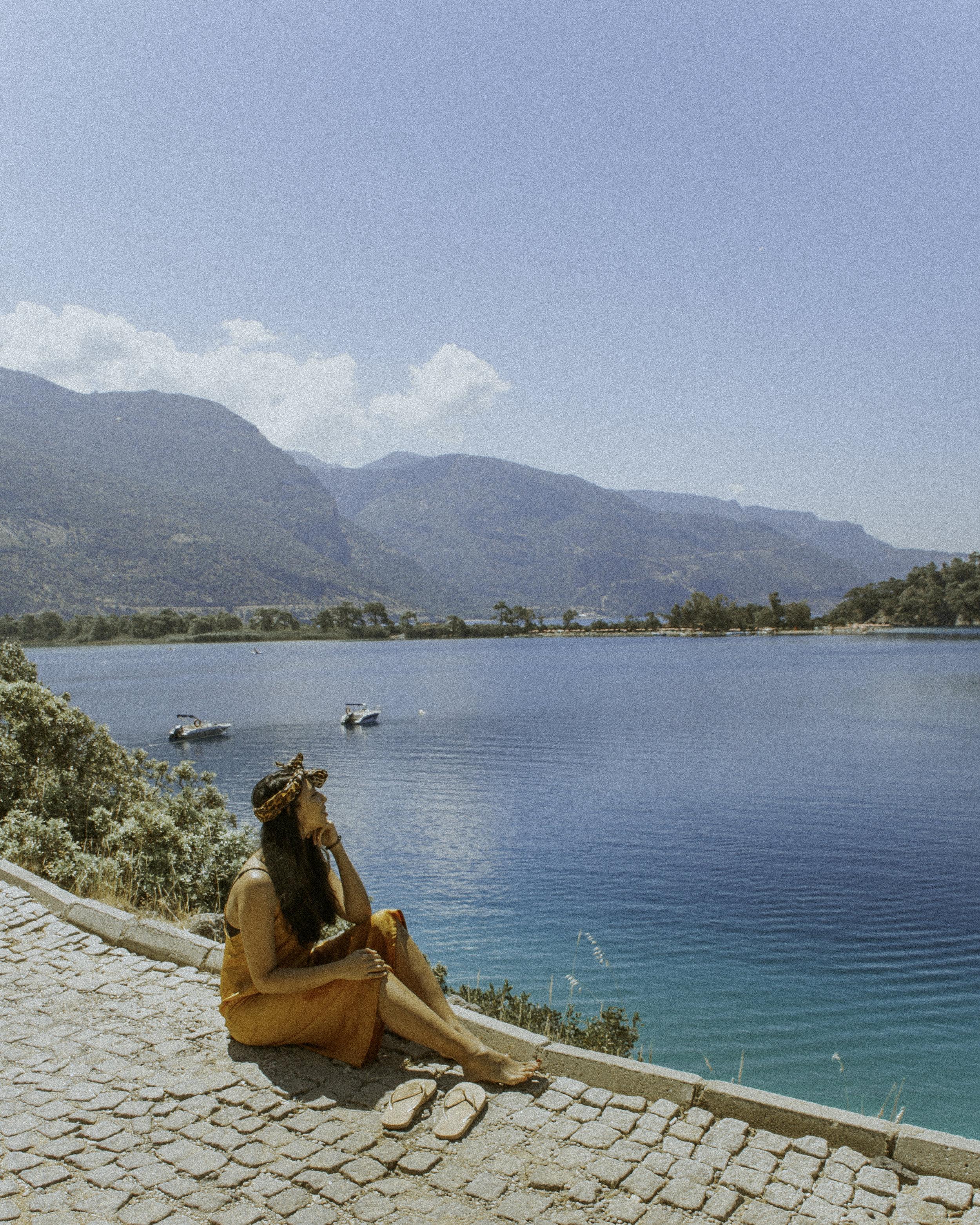 土耳其达拉曼奥鲁德尼兹的蓝色泻湖,值得在instagram上发布