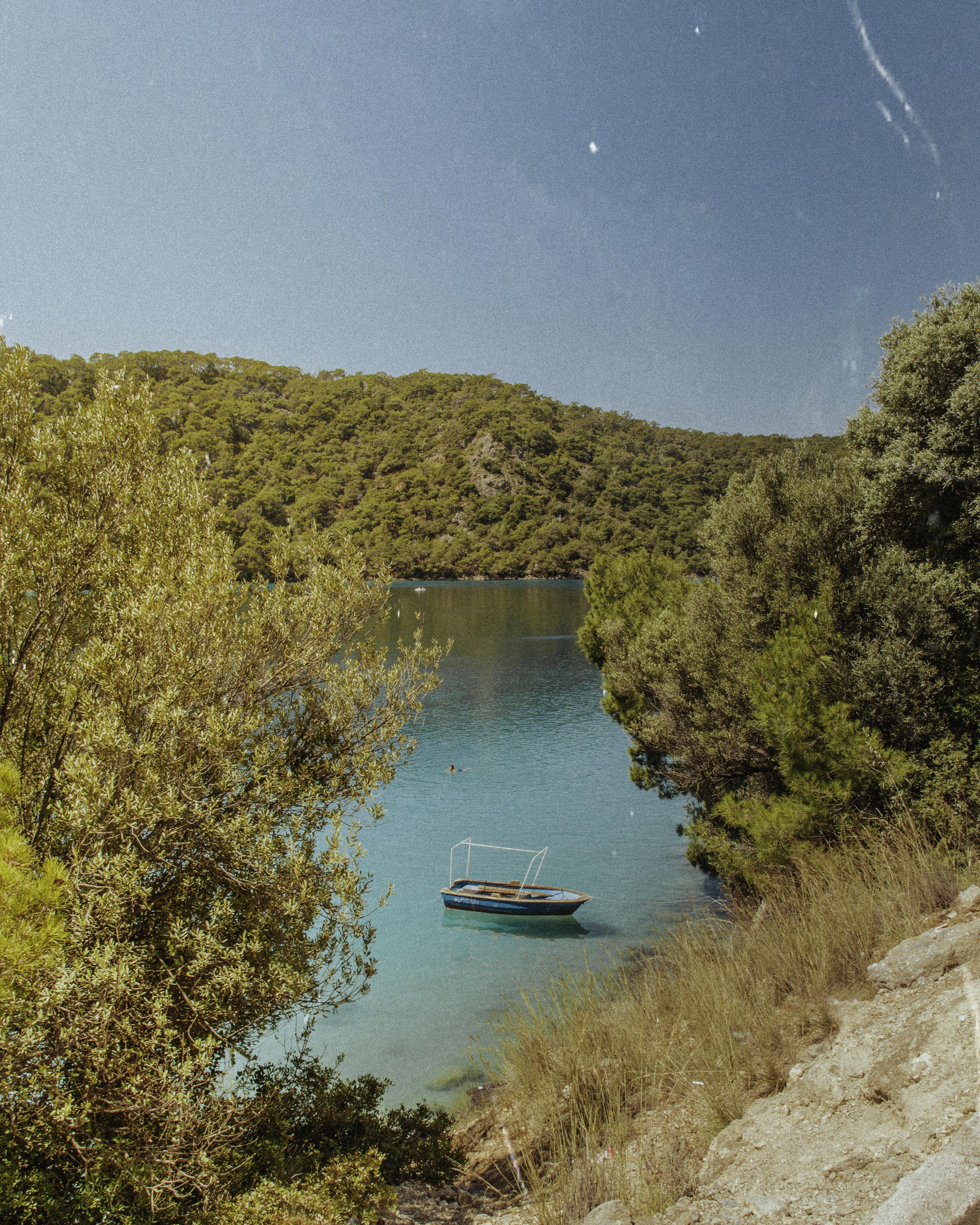 土耳其达拉曼奥鲁德尼兹美丽的蓝色泻湖