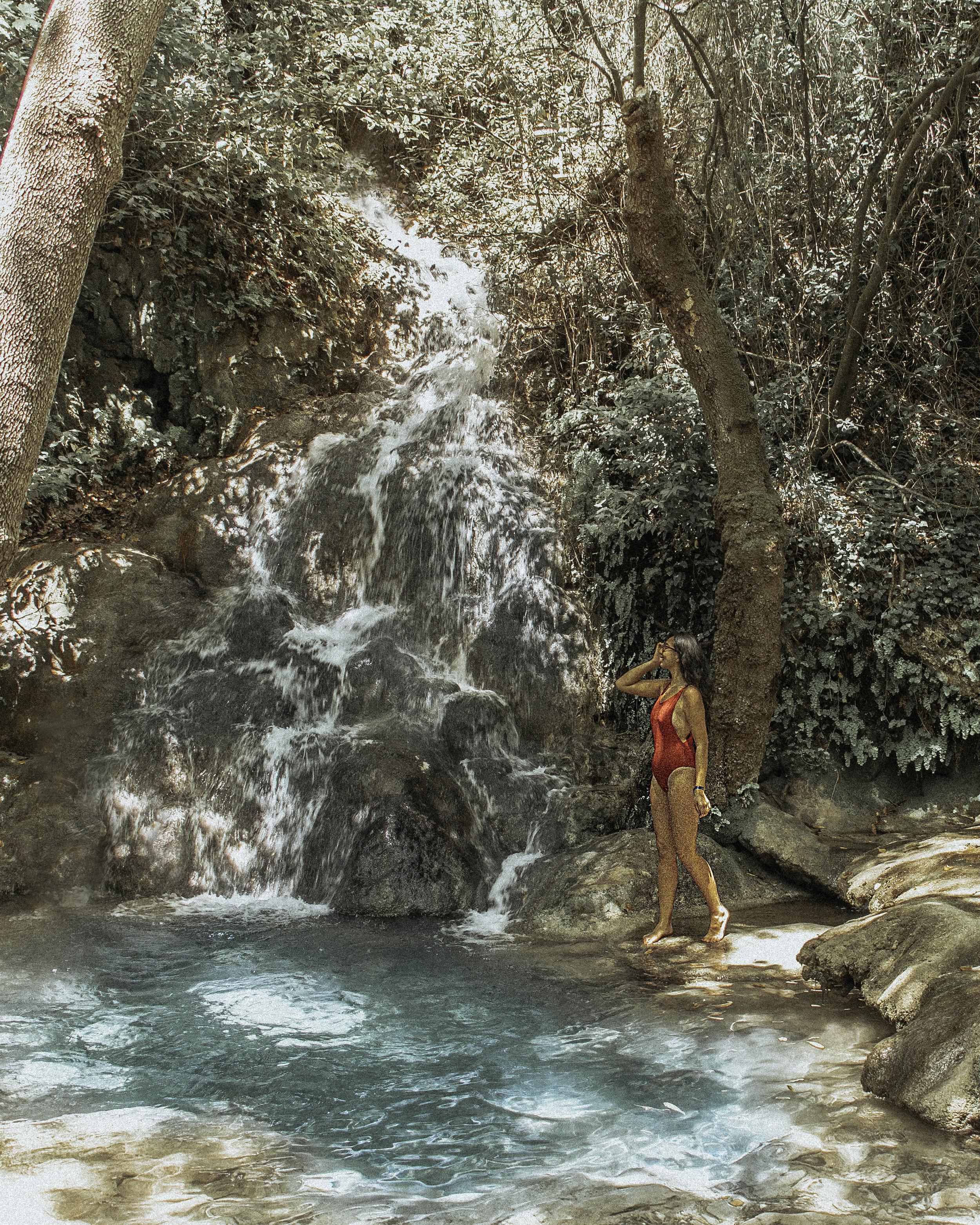 土耳其达拉曼特古特的塞拉尔瀑布