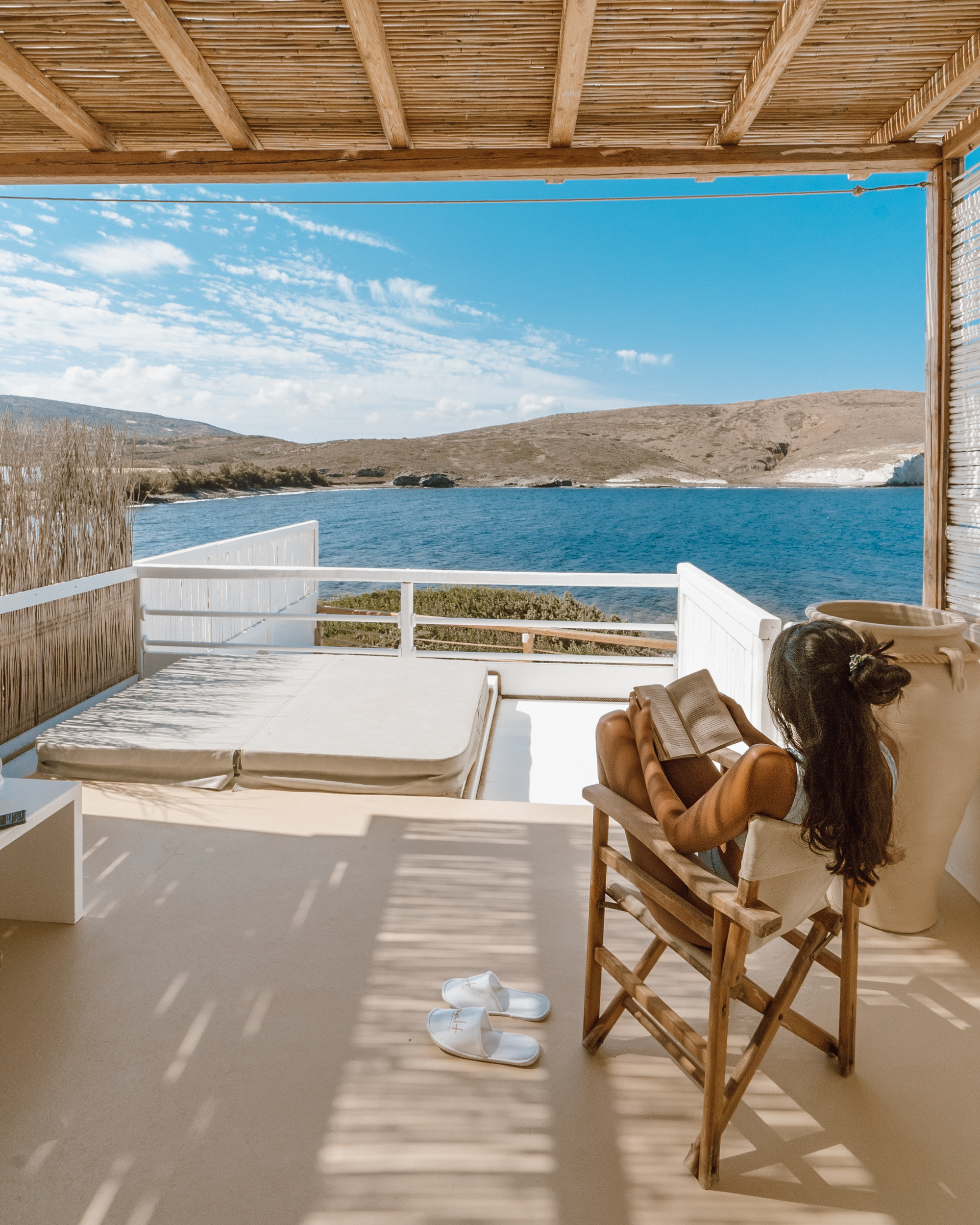 View from the Balcony at Salt Milos Suites (Review) 2018