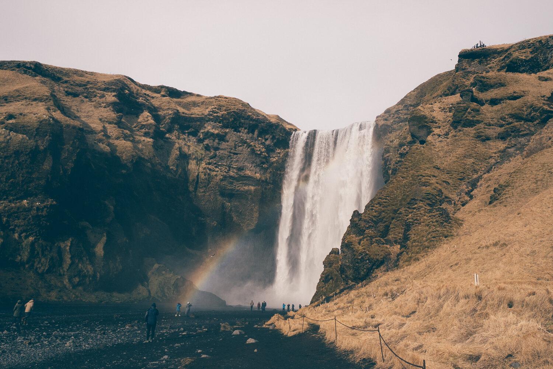冰岛Skogafoss彩虹- 1 - 2. - jpg