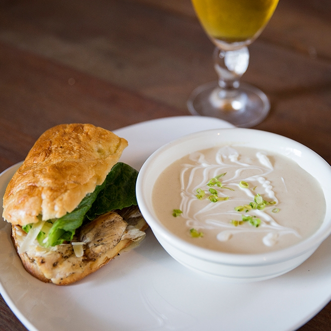 lunch: 1/2 sandwhich & soup