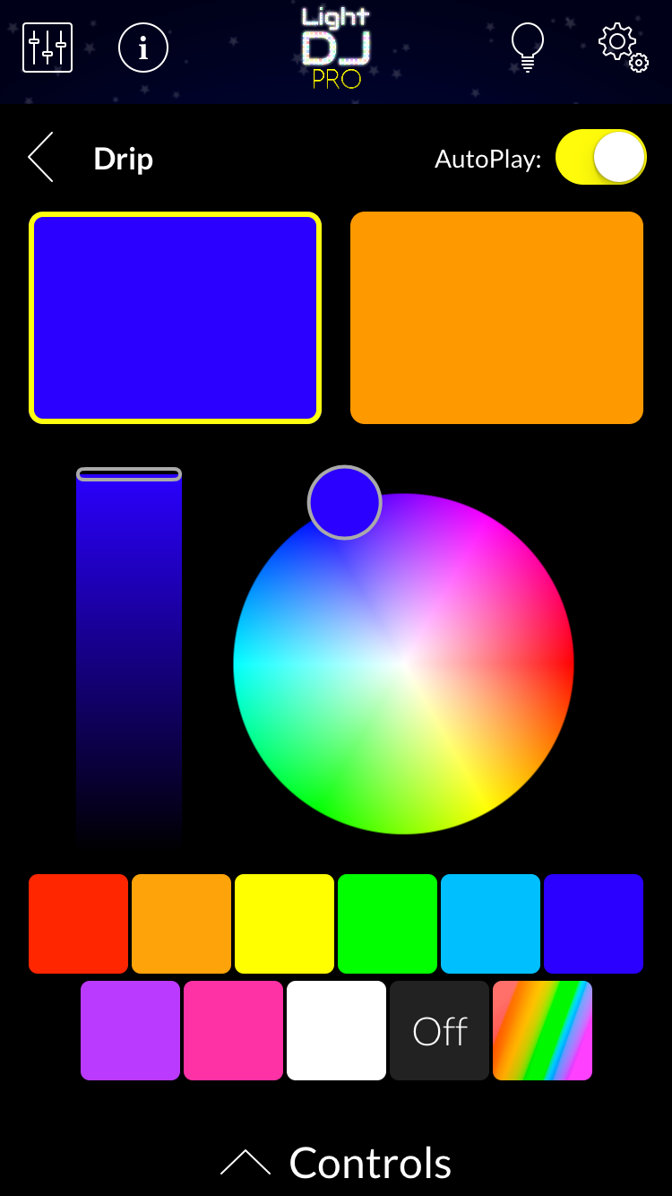 Use the new color wheels to select any color in the rainbow, available throughout the app.