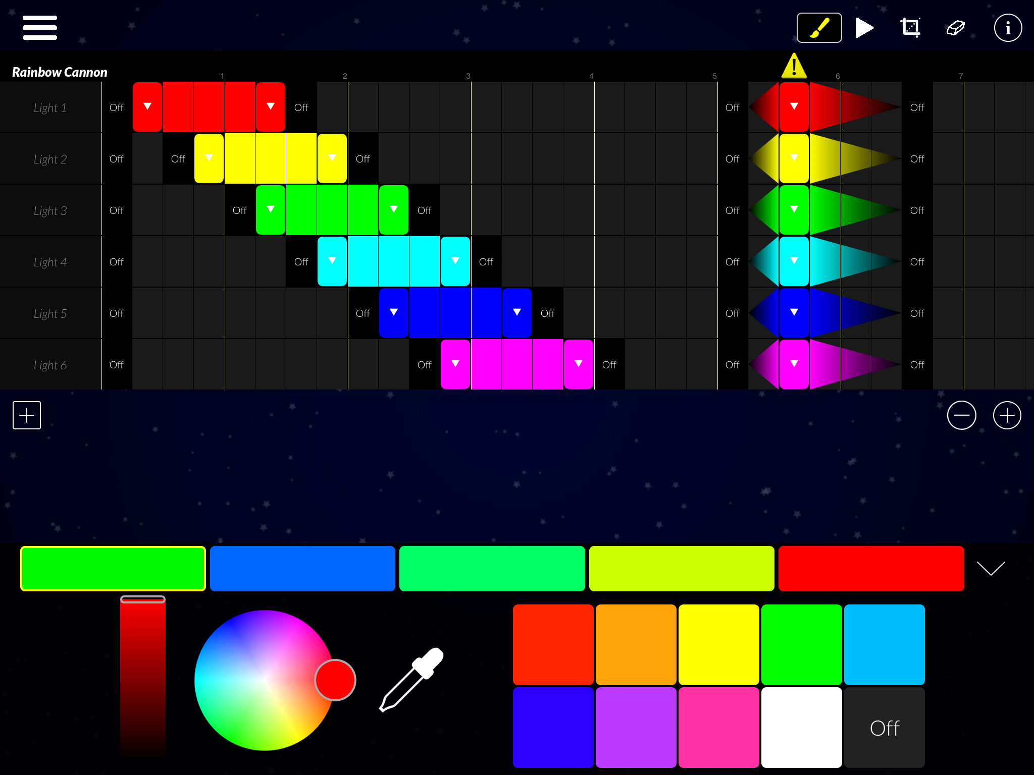 Program your own special lighting effects with the powerful new Effect Maker.