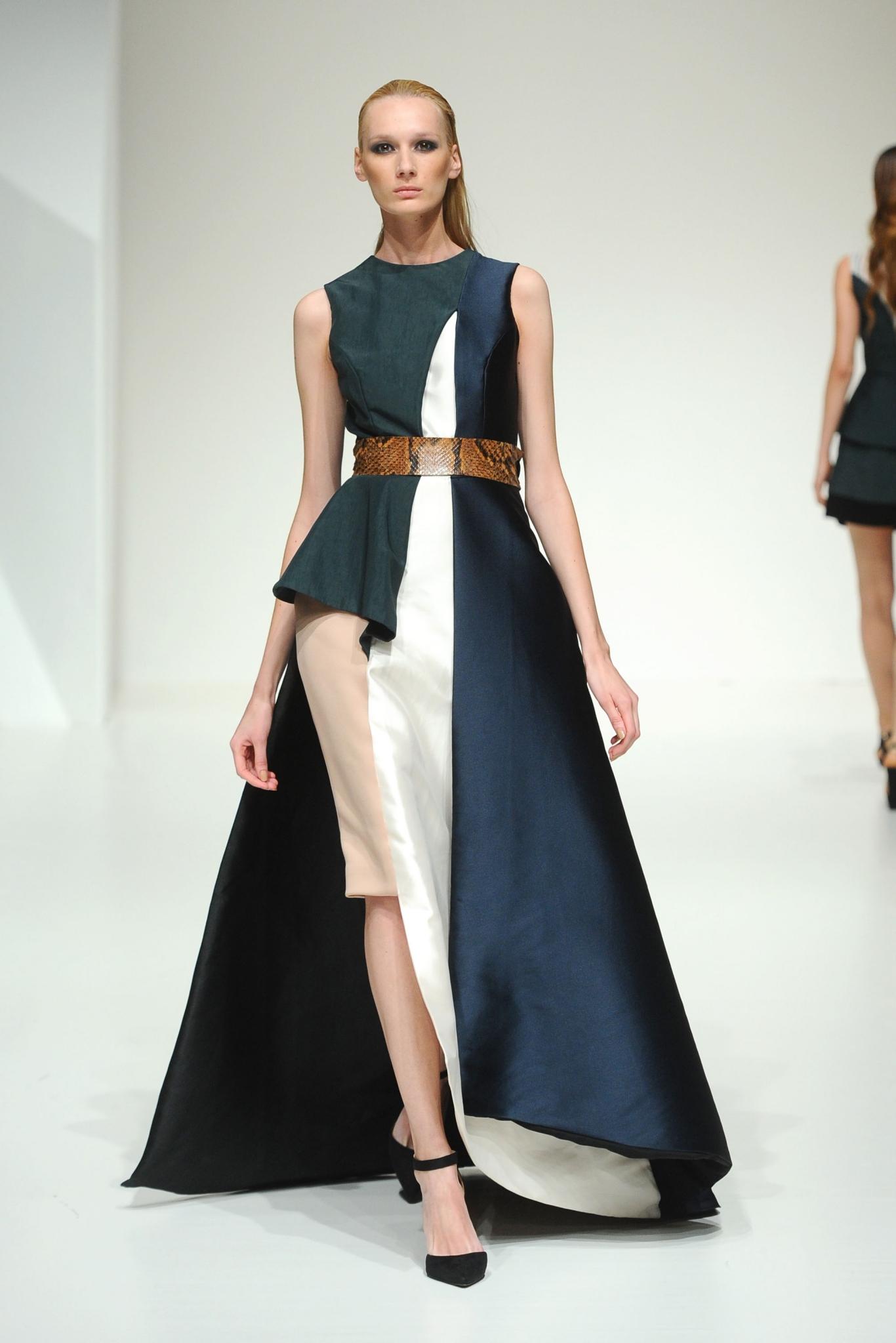 Hussein Bazaza at Fashion Forward Season 5. Dubai, United Arab Emirates