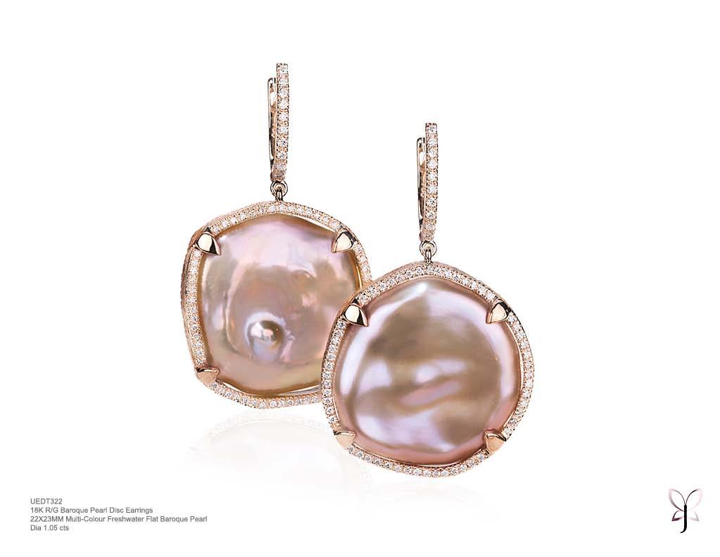 Baroque Diamond Disc Rose Earrings.jpg