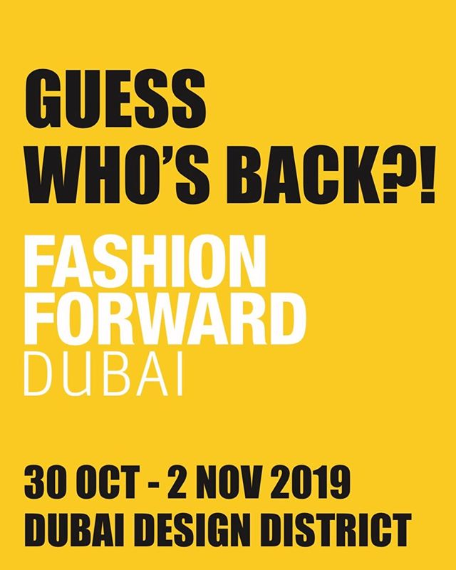 #FFWDdxb returns better than ever to @d3dubai for October Edition 2019!  With a wide range of runways, presentations, exhibitions, pop-ups, and much more, this week is going to be one for the books!