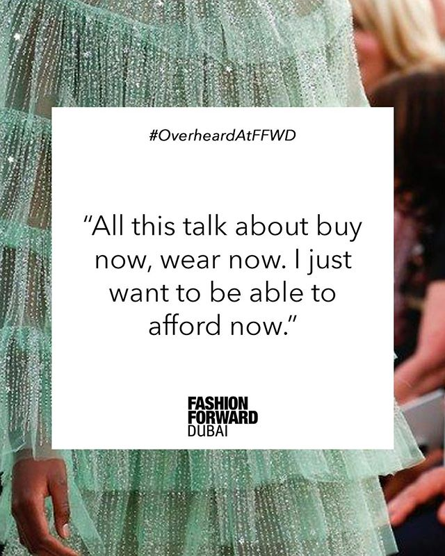 I like my money where I can see it: hanging in my closet 👗 #OverheardAtFFWD  Slide into our DMs with the best things you've overheard at previous #FFWDdxb seasons ☕