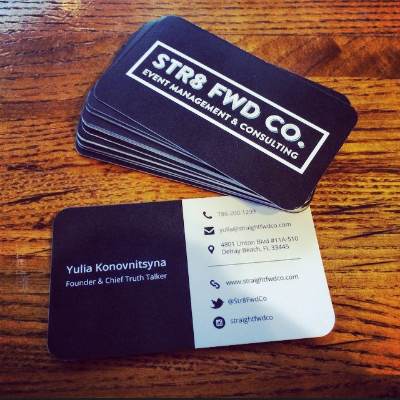 Straight Fwd Co. business cards