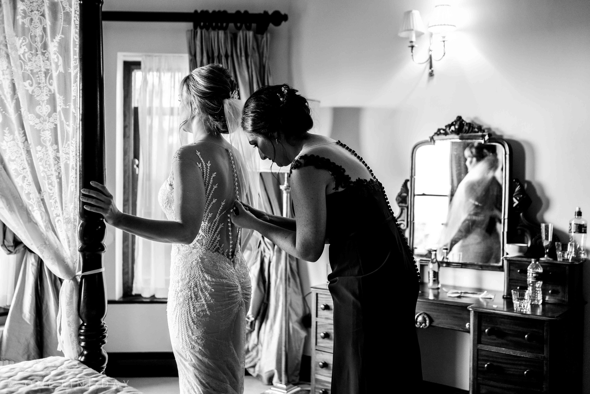 Natural Photograph of Bride getting ready at Tinakilly House wedding