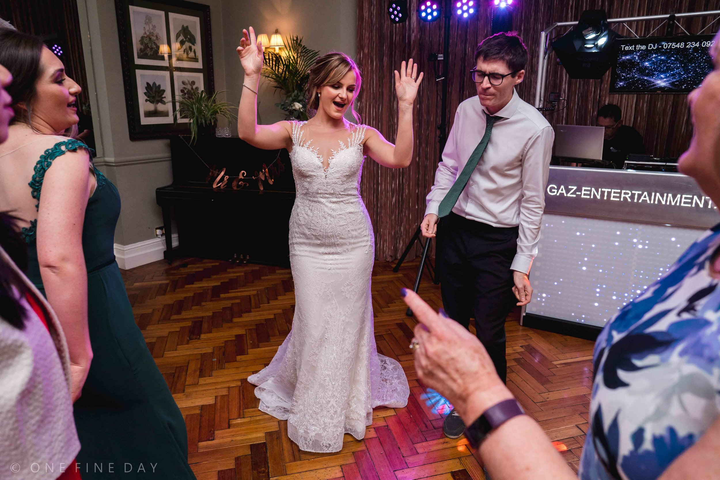 Wedding photography in the evening at Tinakilly House Ireland