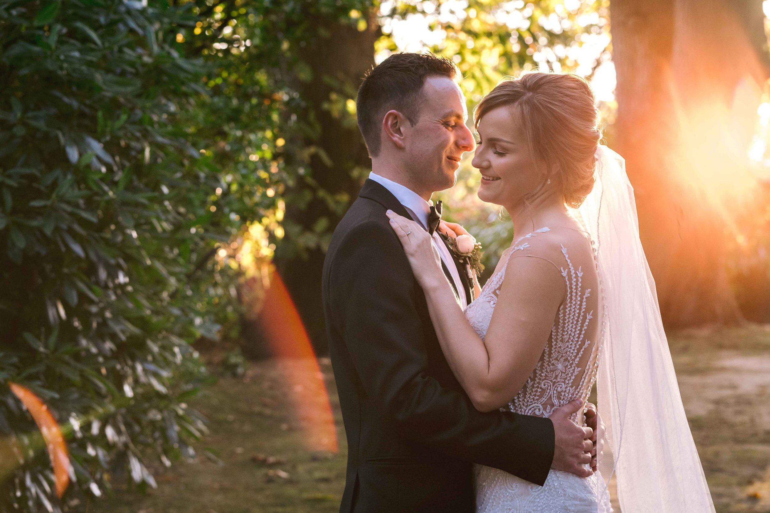 Bride and Groom Natural and relaxed wedding portrait Tinakilly House Ireland