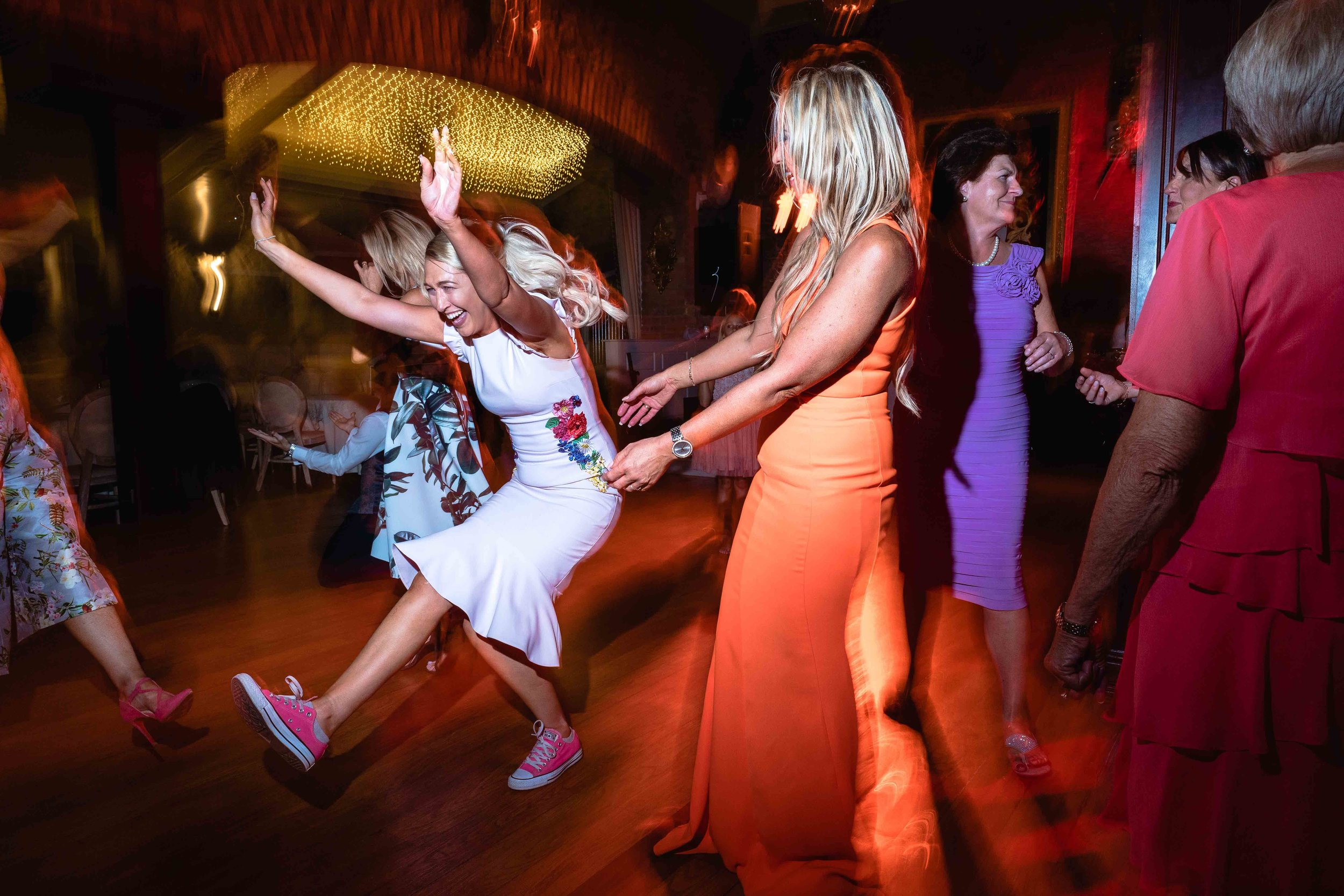 Photograph of guests dancing at an Irish Wedding