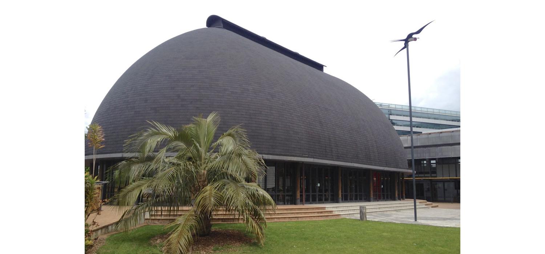 Figure 1  - Fale Pasifika at Auckland University's Pacific Studies Complex. Author's Photograph.