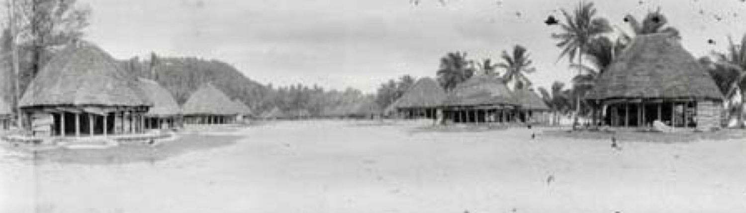 Figure 2 - A Samoan Village in a 1905 Photograph by Thomas Andrew.  Austin and Milbank, page 757.