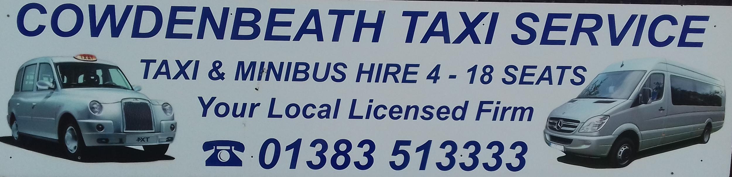 Cowdenbeath Taxi's Woodend Cowdenbeath Fife 01383 513333