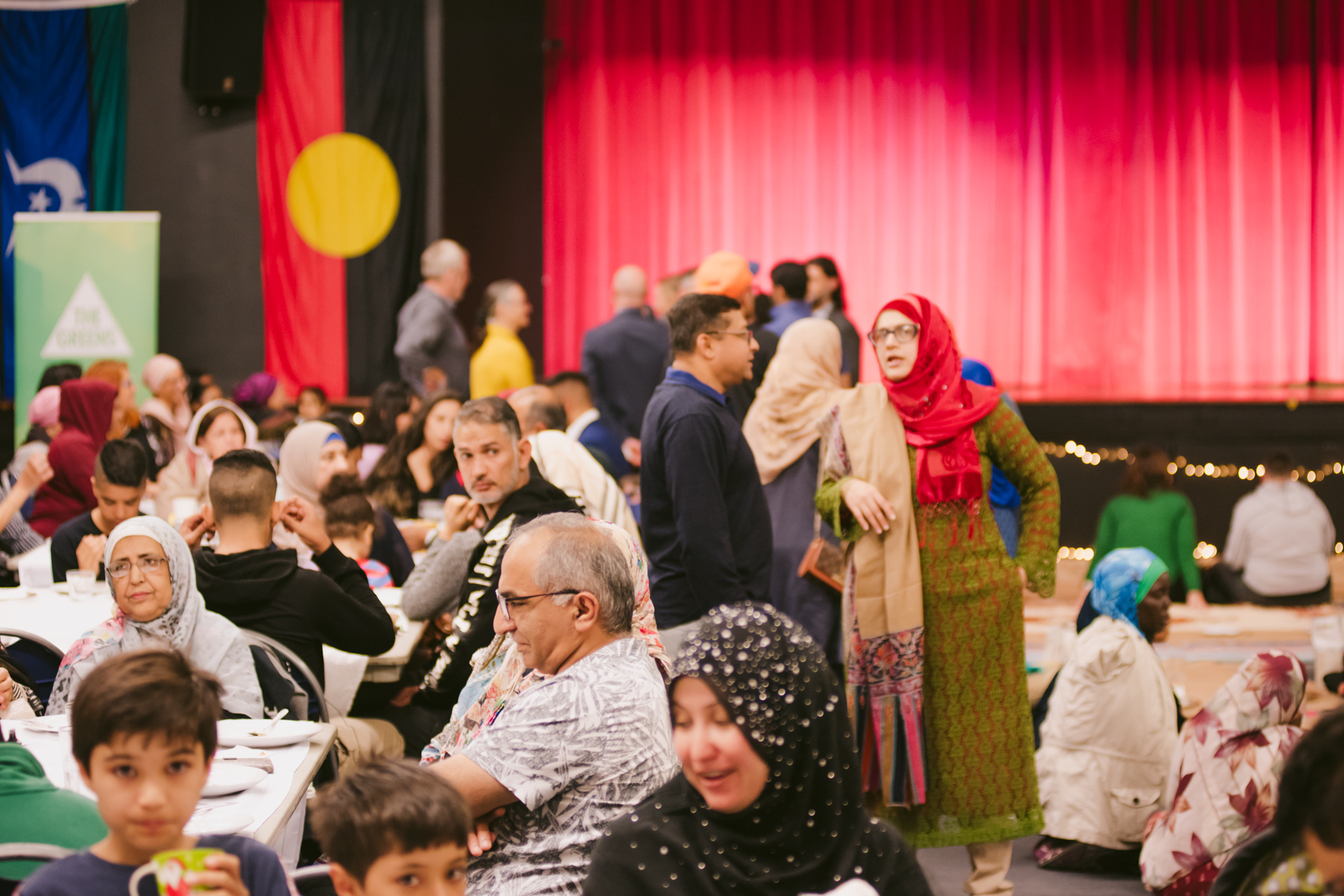 A Community Iftar Dinner thrown by the Australian Greens in May, 2019.