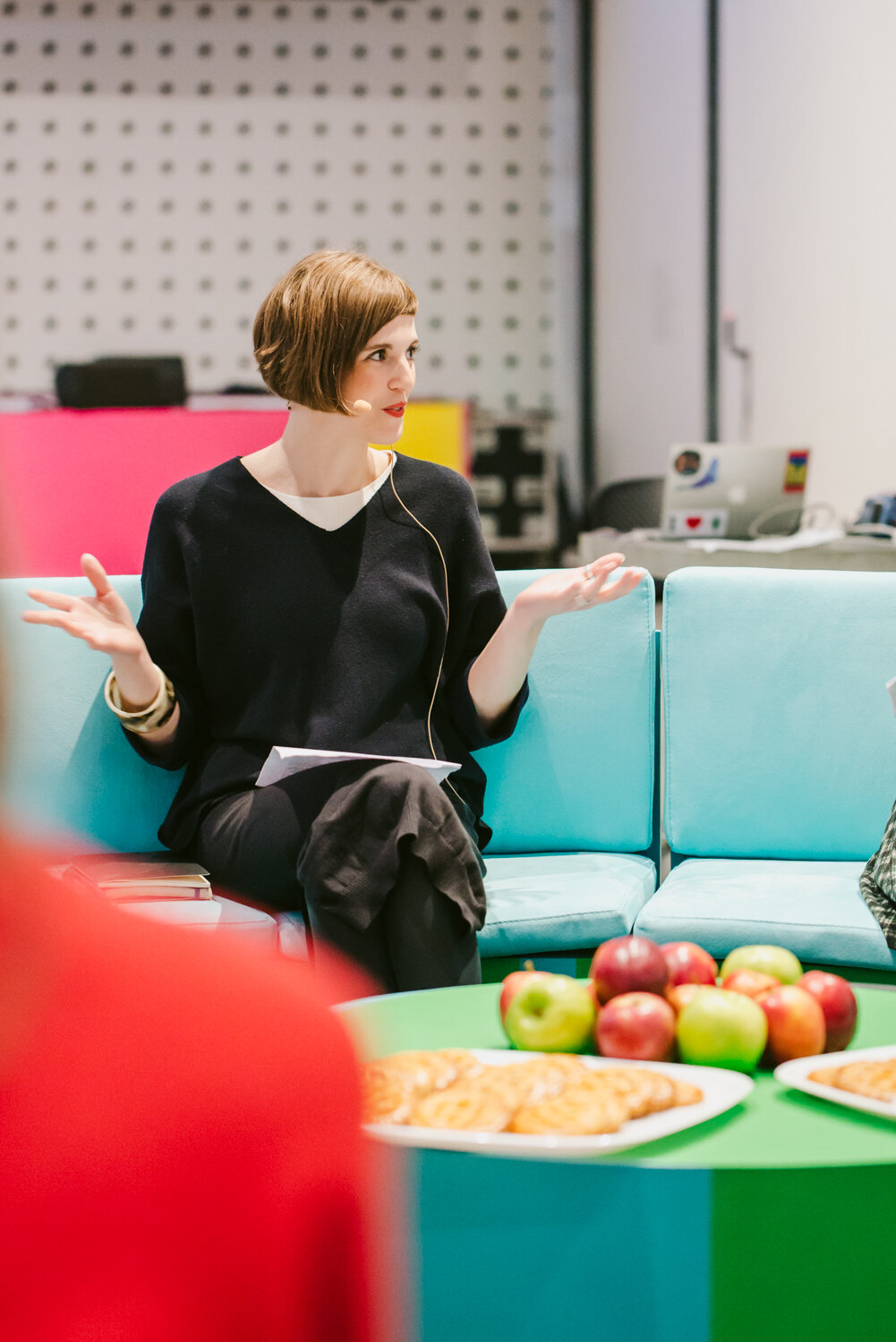 Architect Amy Learmonth at Workaround conference, RMIT Design Hub 2018