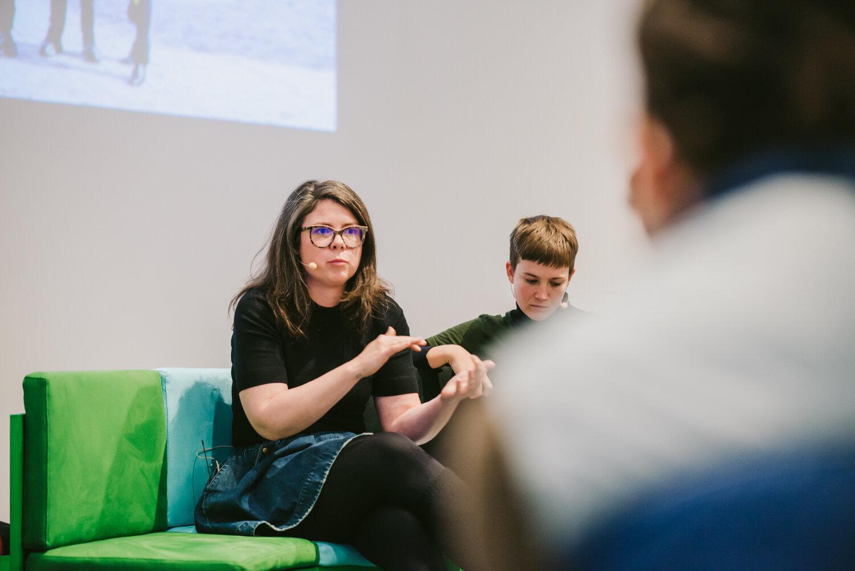 Fiona McAlpine at Workaround conference, RMIT Design Hub 2018
