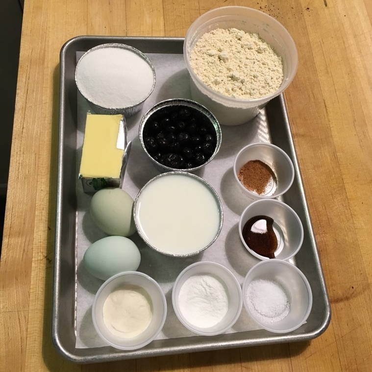 The ingredients for each recipe were measured and ready to use.