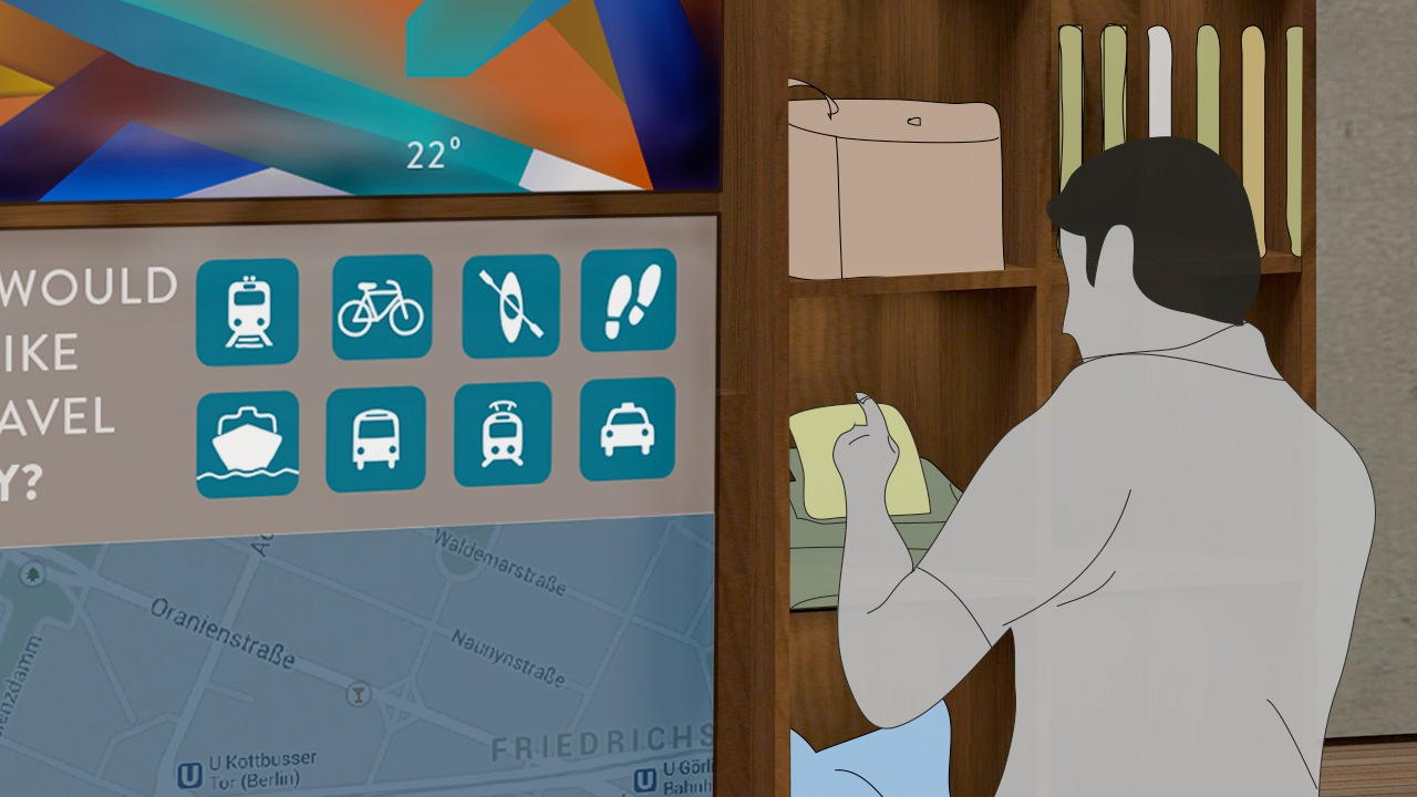 CHOOSE A ROUTE  The traveler can even choose their itinerary based on method of transportation.