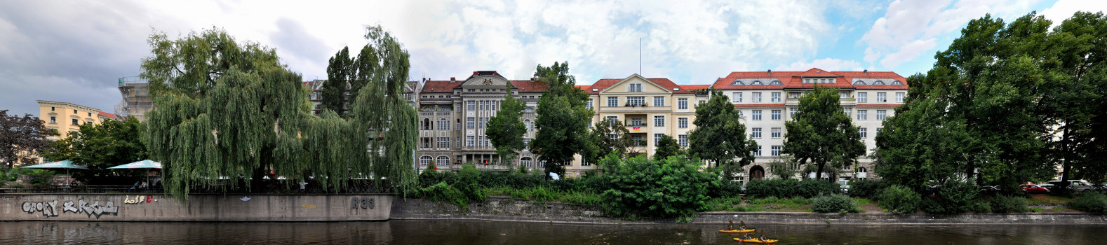 SITE LOCATION  Paul-Lincke-Ufer 43, 10999 Berlin, Kreuzberg with a view of the Landwehr Canal