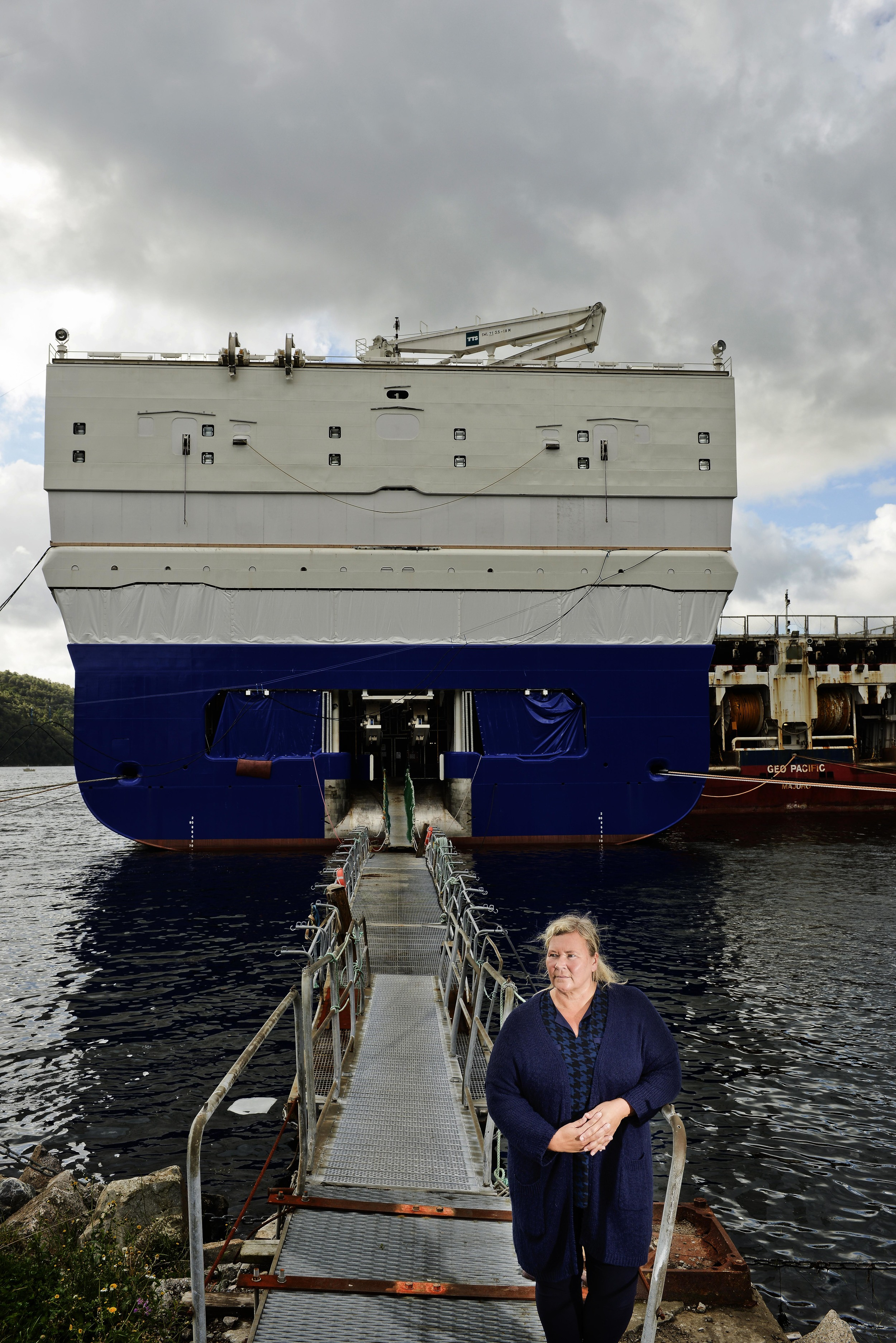 Harbor boss in Lygdal: Jane Arvesen